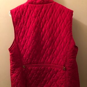 Women's Quilted Vest - red